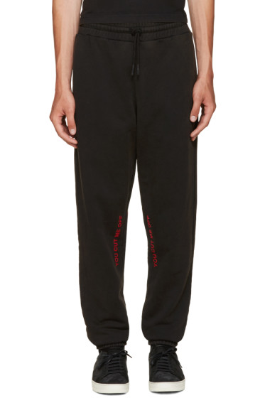 Off-White - Black 'Cut-Off' Lounge Pants