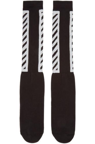 Off-White - Black Logo Socks
