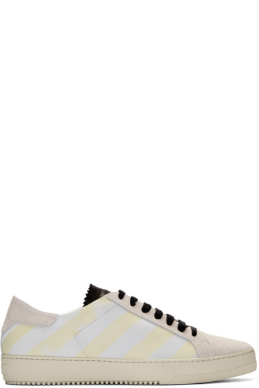 Off-White - White Diagonals Sneakers
