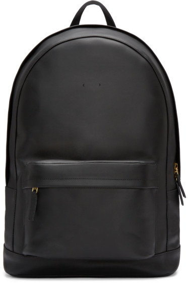PB 0110 - Black Leather CA 6 Backpack