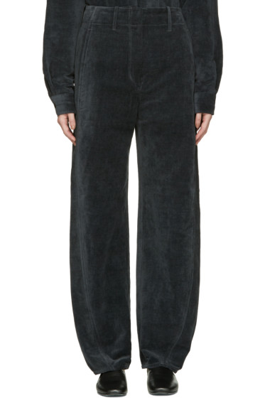 Lemaire - Black Large Twisted Velvet Trousers