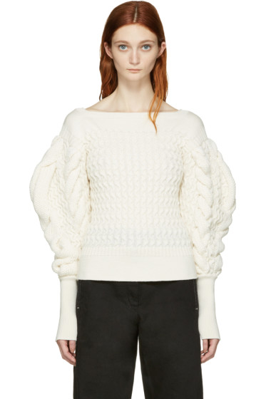Lemaire - Ivory Cable Knit Sweater