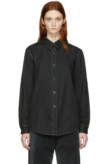 Lemaire - Black Pointed Collar Shirt