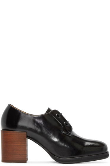 Lemaire - Black Heeled Oxfords