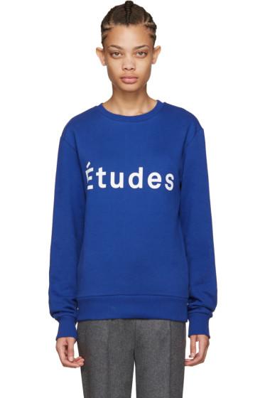 Etudes - Blue Etoile Logo Sweatshirt