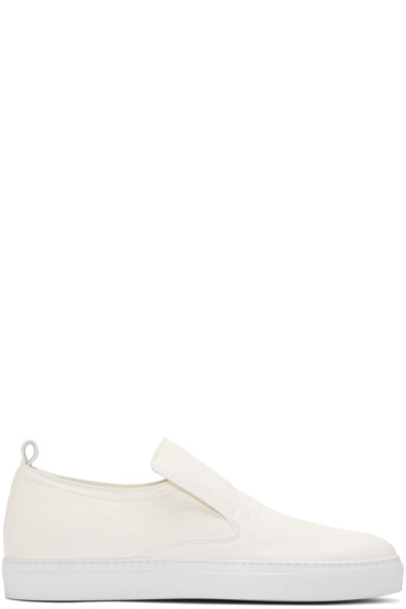AD Ann Demeulemeester - White Arid Slip-On Sneakers