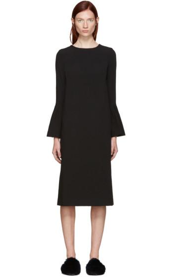 Edit - Black Flute Midi Dress