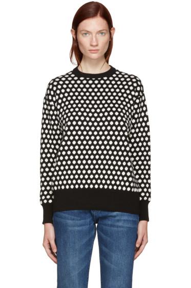 Edit - Black & White Polka Dot Sweater