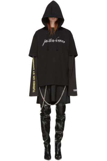 Vetements - Black 'Justin 4 Ever' Dress