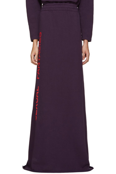 Vetements - SSENSE Exclusive Purple 'Sexual Fantasies' Skirt