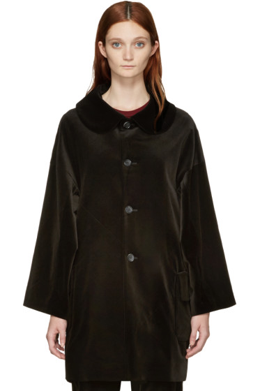 Comme des Garçons Comme des Garçons - Black Velvet Oversized Coat