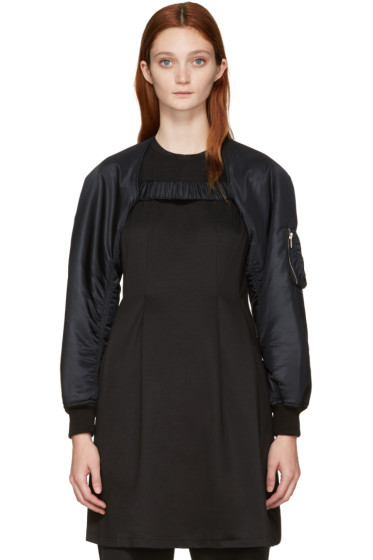 Noir Kei Ninomiya - Black Bomber Jacket Sleeves