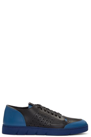 Loewe - Black & Navy Colorblock Sneakers