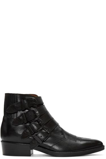 Toga Virilis - Black Western Buckle Boots