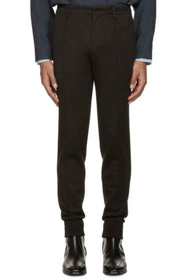 Wooyoungmi - Black Cuffed Trousers