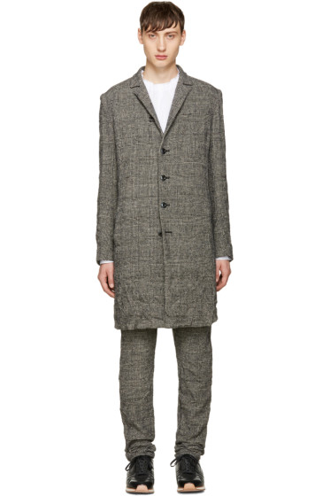 Attachment - Black Wrinkled Houndstooth Coat