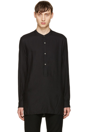 Attachment - Black Twill Tunic Shirt