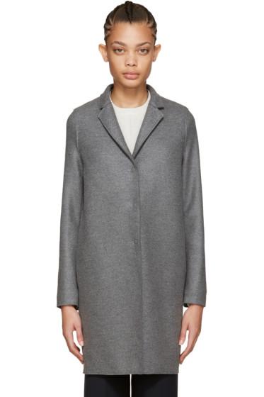 Harris Wharf London - Grey Wool Cocoon Coat