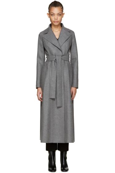 Harris Wharf London - Grey Wool Long Duster Coat