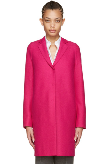 Harris Wharf London - Pink Wool Cocoon Coat