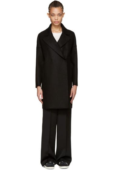 Harris Wharf London - Black Wool Oversized Collar Coat