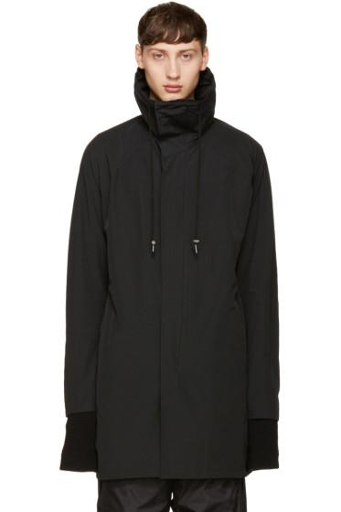 NILøS - Black Nylon Zipped Coat