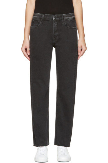 Earnest Sewn - Black Melody Crop Flare Jeans