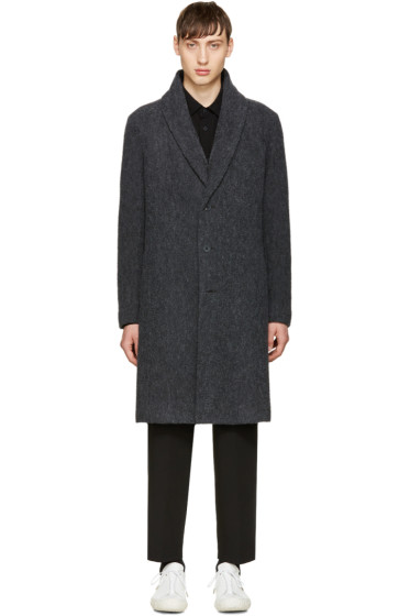 Issey Miyake Men - Grey Wool Bouclé Coat