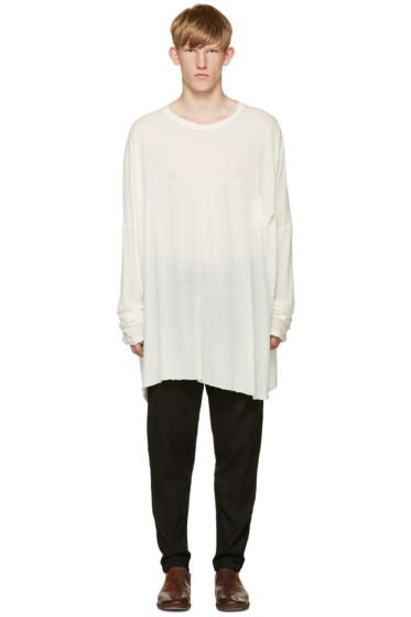 Isabel Benenato - Ivory Oversized T-Shirt