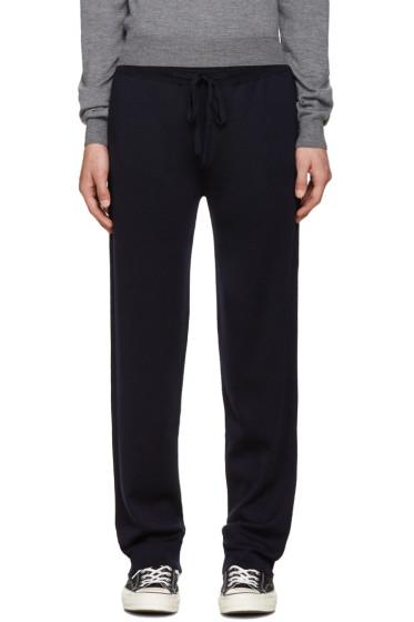 Éditions M.R  - Navy Merino Knit Lounge Pants