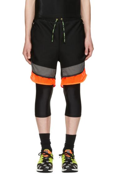 Adidas x Kolor - Black Film Yarn Layered Shorts