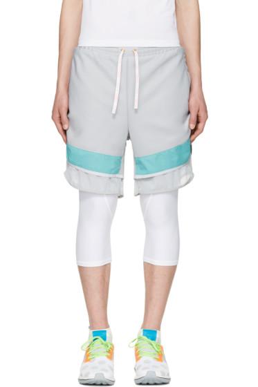 Adidas x Kolor - Grey Film Yarn Layered Shorts