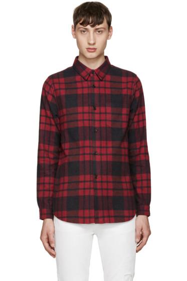 John Elliott - Red Plaid Shirt