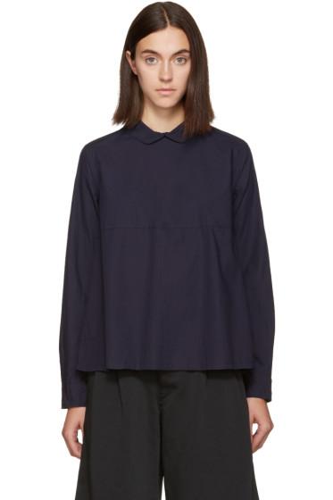 Chimala - Navy Rounded Collar Shirt