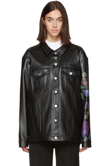 Alyx - Black Leather Floral Jacket