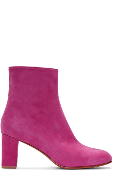 Maryam Nassir Zadeh - Pink Suede Agnes Boots