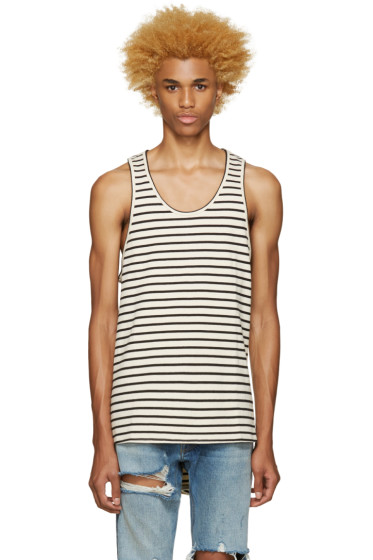 Fear of God - SSENSE Exclusive Off-White & Black Striped Top