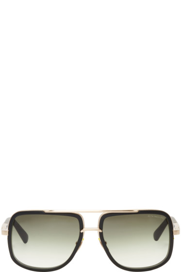 Dita - Black & Gold Mach-One Aviator Sunglasses
