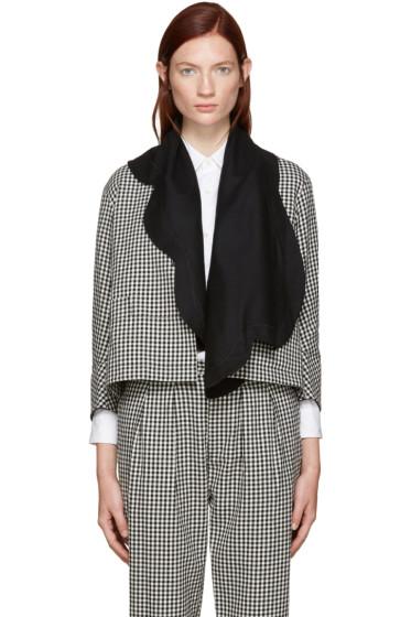Tricot Comme des Garçons - Black & White Gingham Double Jacket