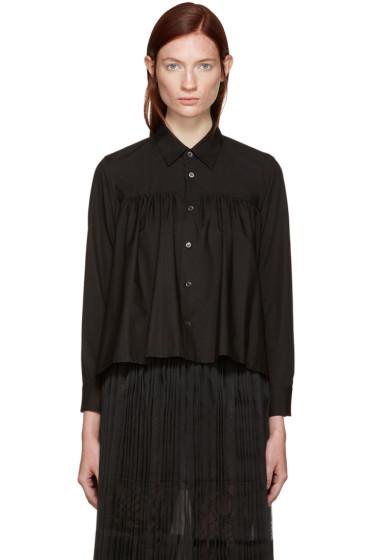 Tricot Comme des Garçons - Black Pleated Shirt