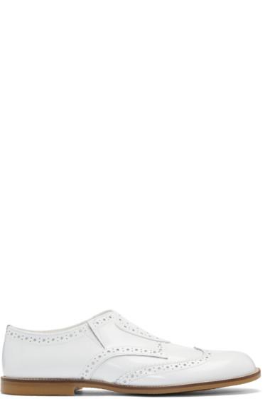 Tricot Comme des Garçons - White Slip-On Brogues