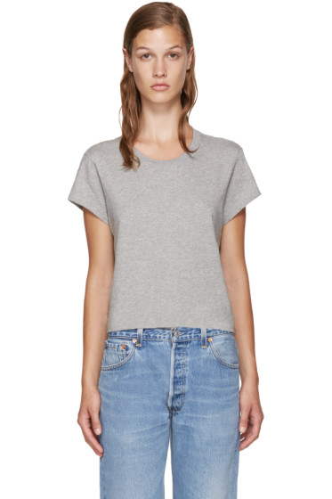 Re/Done - Grey Hanes Edition 1950's Perfect Boxy T-Shirt