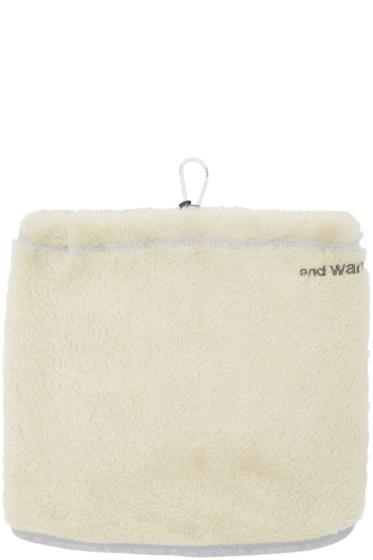 and Wander - Off-White Fleece Neck Warmer