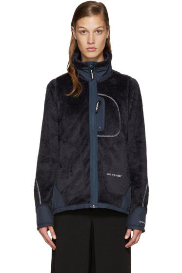 and Wander - Navy High Loft Fleece Jacket