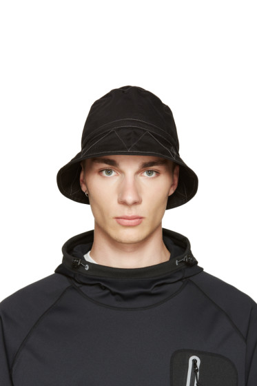 and Wander - Black Nylon Bucket Hat