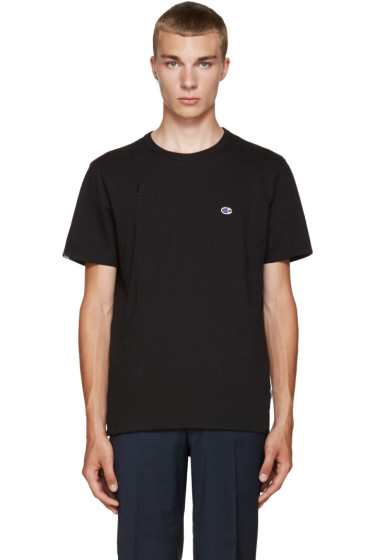Champion x Beams - Black Jersey Zip T-Shirt