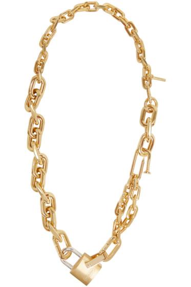 Ambush - Gold Rebel Padlock Chain Necklace