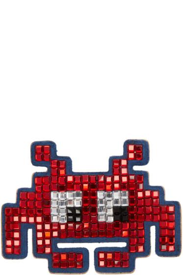 Anya Hindmarch - Red Diamante Space Invader Sticker