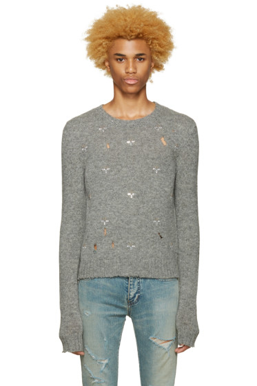 Faith Connexion - Grey Embellished Sweater