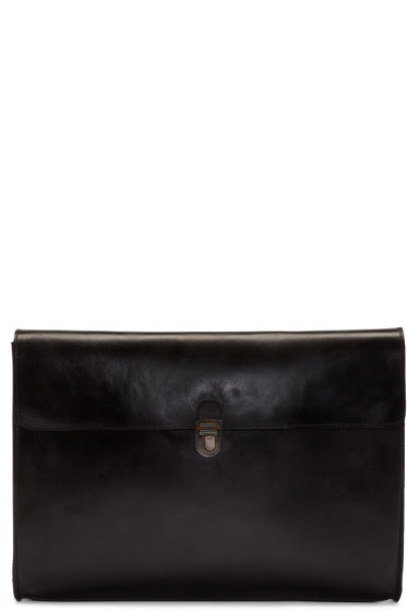 Cherevichkiotvichki - Black Leather Small Pouch